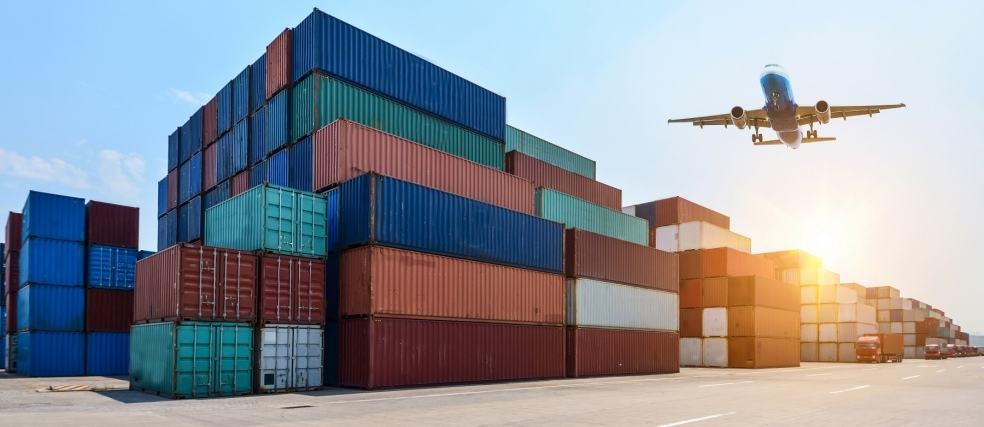 Industrial port and container yard