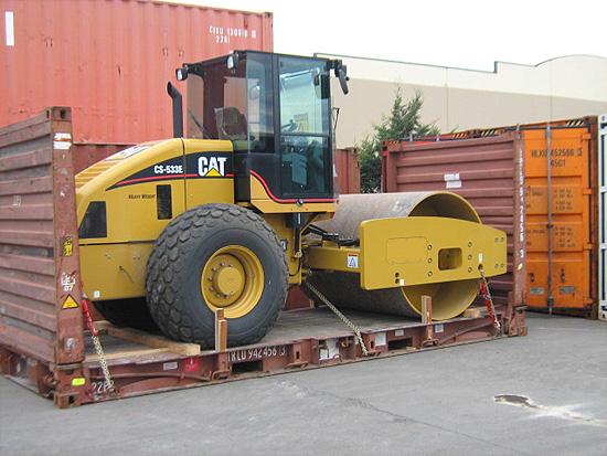 container flat rack 20' com carga